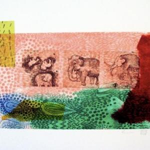 Elephants by Fumiko Toda