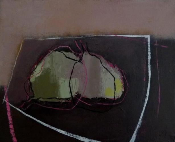 Deux Poires sur une Table Grise by Sarah Picon
