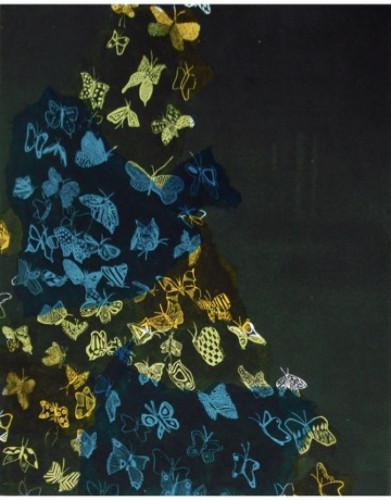 Butterfly Away (Black) by Fumiko Toda