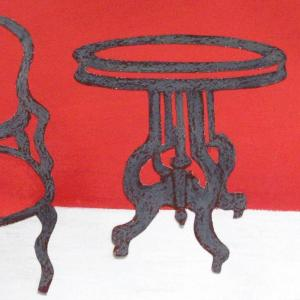 Grey Table, Grey Chair by Angela A'Court