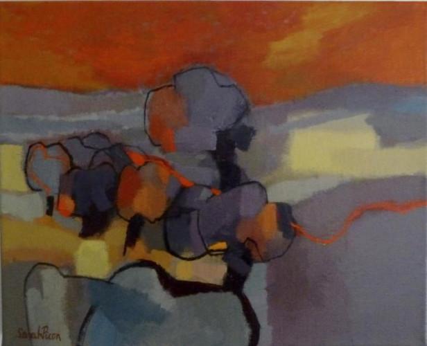 Arbres au Ciel Rouge by Sarah Picon