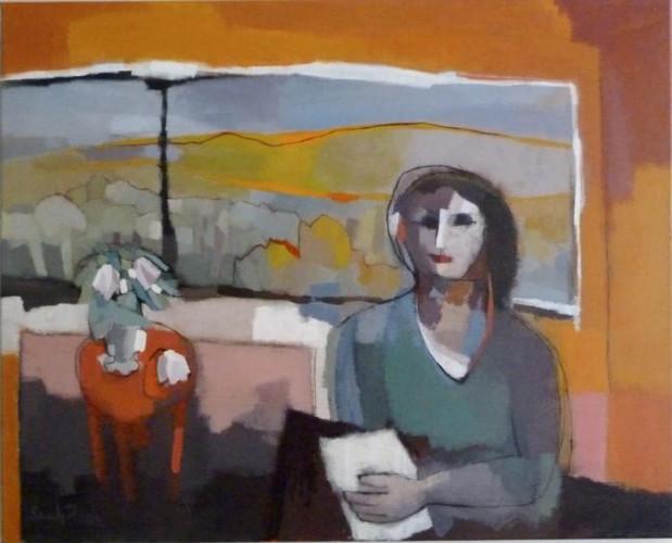 Portrait de Femme Devant une Fenêtre by Sarah Picon