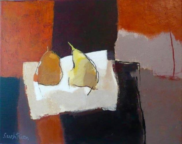 Deux Poires sur une Table Noire by Sarah Picon