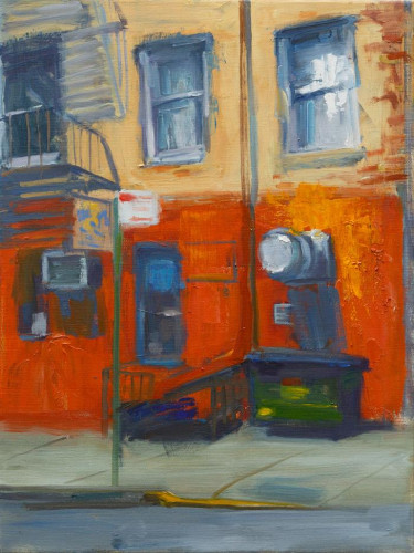 The Great Jones Street Cafe by Victor Honigsfeld