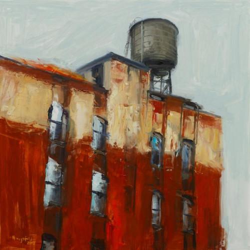Near the Bowery by Victor Honigsfeld
