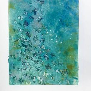 Butterfly Away (Teal) by Fumiko Toda
