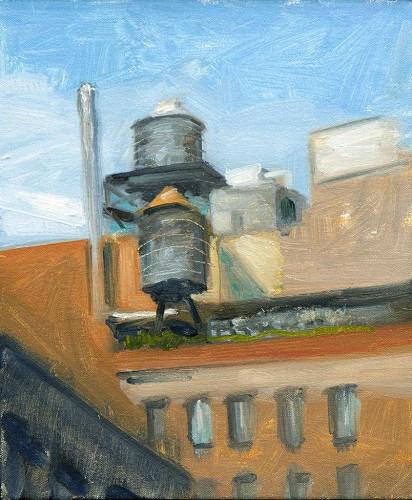 Above Lafayette Street by Victor Honigsfeld