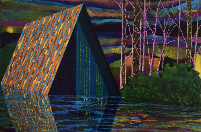 Beyond the Floating World, acrylic on paper by James Isherwood