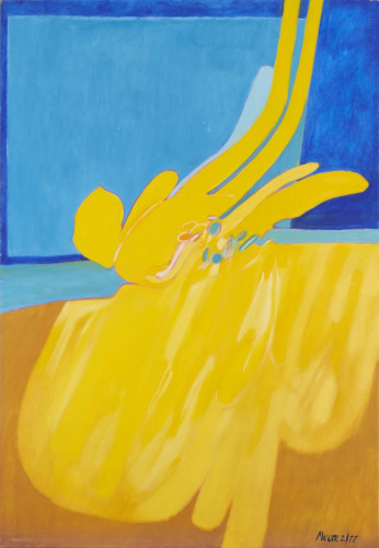 Untitled (Yellow Blue)  by James Moore