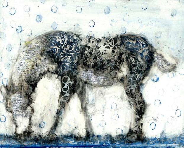 Blue Balloon Horse by Alicia Rothman