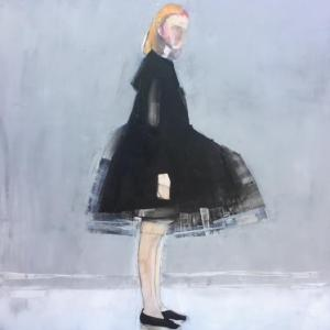 Girl in Black Dress by Ruth Shively