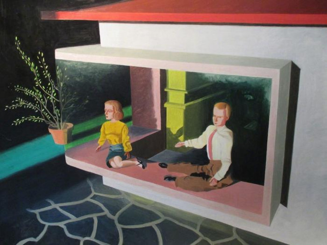 Two in Window by Kathy Osborn