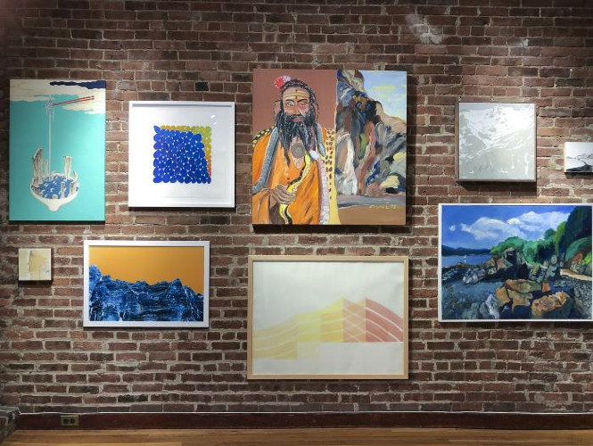 Installation View of ON THE ROCKS
