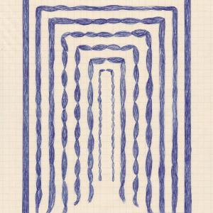 Blue Braids by Caroline Blum