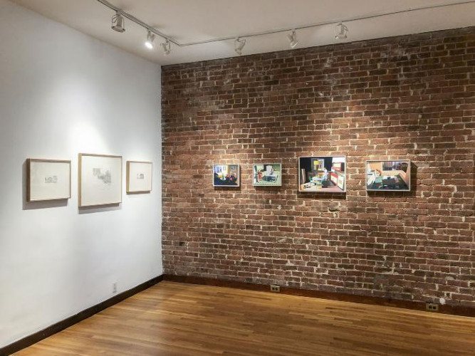 Installation View of Paper Trail
