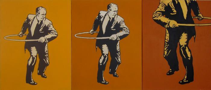 Hula Hoop Man by Charles Buckley