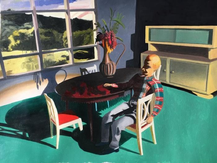 Man Sitting Sideways by Kathy Osborn