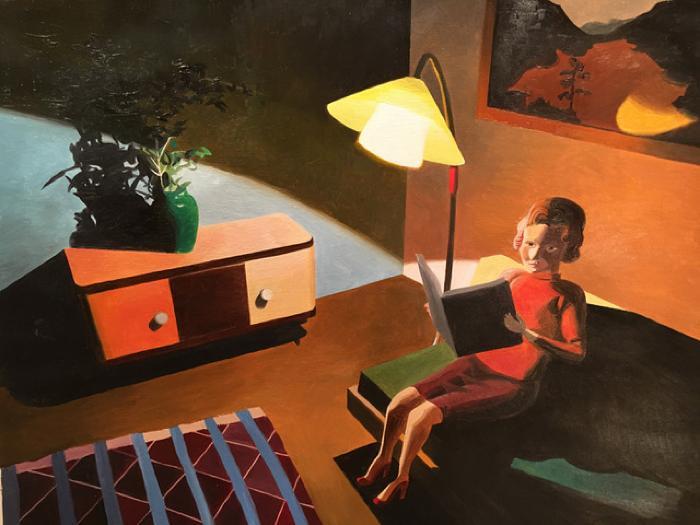 Woman Reading by Kathy Osborn