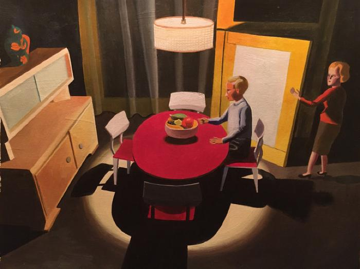 Red Table by Kathy Osborn