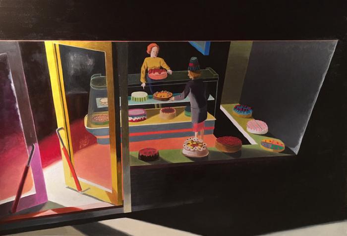 Bakery at Night by Kathy Osborn