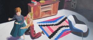 Clutching Her Skirt by Kathy Osborn