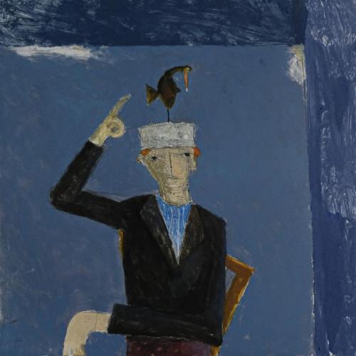 A Bird Landed on Francis' Head by Malcolm Moran