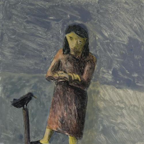 Catherine Ponders the Bird by Malcolm Moran