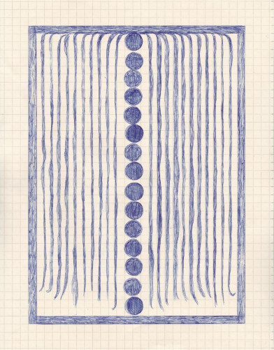 Backyard Weeping Willow in Blue by Caroline Blum