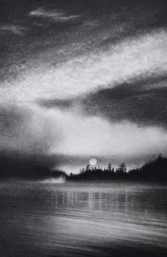 Lac Saint-Joseph at Dawn by Katherine Curci