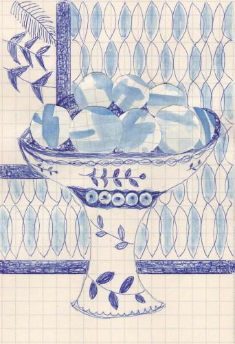 Still Life with Blue Eggs by Caroline Blum