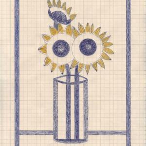 Still Life with Sunflowers by Caroline Blum