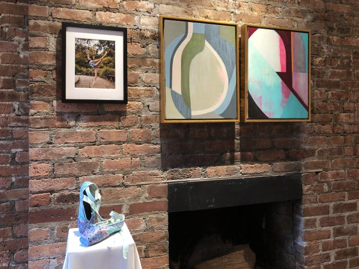 Installation View of Paint on Pointe