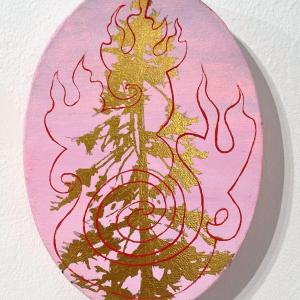 Untitled Fire Tree 10 by Jim Denney