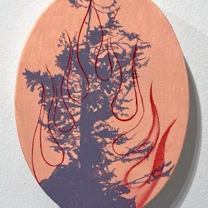 Untitled Fire Tree 6 by Jim Denney