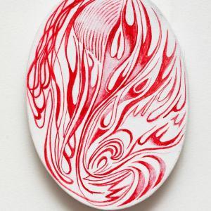 Fire Oval 1 by Jim Denney