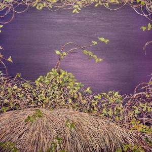 Deep Violet Thicket by Allison Green