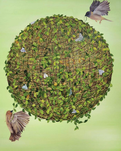 String Theory (Green) by Allison Green