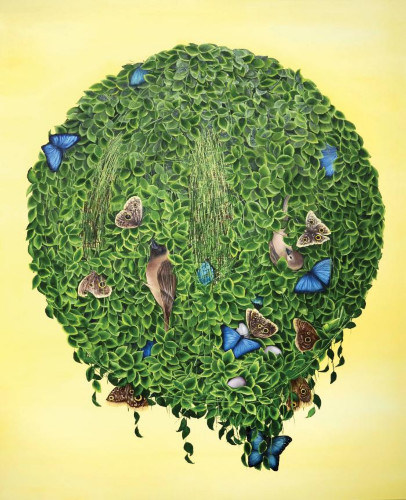 String Theory (Gold) by Allison Green