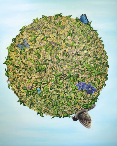 String Theory (Blue) by Allison Green