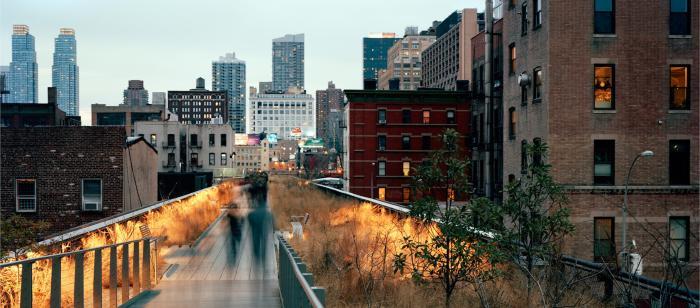 High Line at Dusk by Maria Passarotti