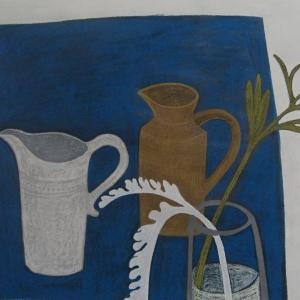 Two Jugs with a Peony by Angela A'Court
